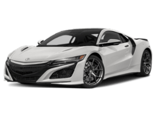 Angled view of the Acura NSX