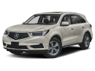 Angled view of the Acura MDX
