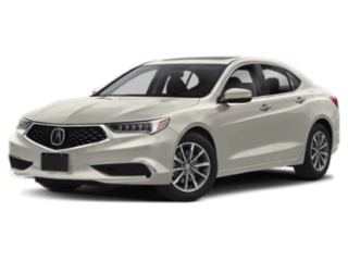 Angled view of the Acura TLX