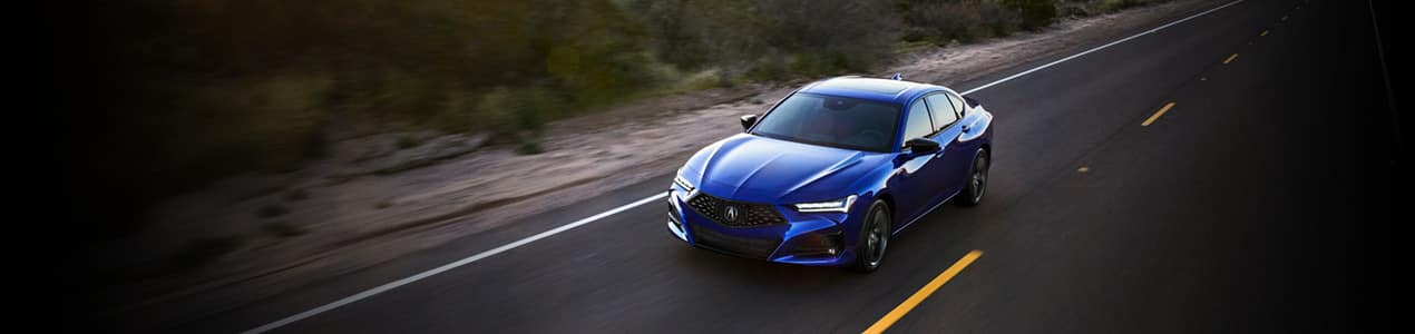 2021 Acura TLX - on desert road