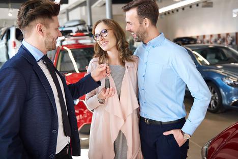Purchasing roadside assistance at Ajax Hyundai