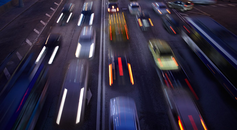 Highway traffic hybrid cars Ajax Nissan