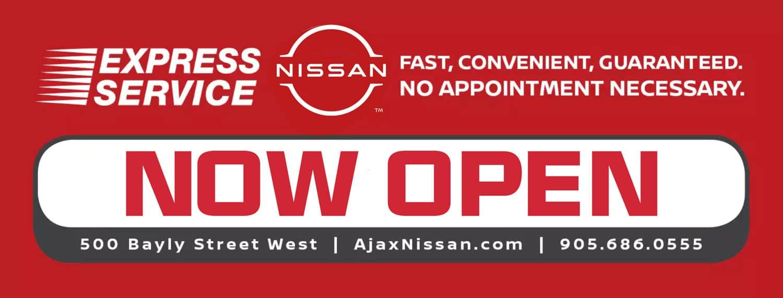 Ajax Nissan Express Service banner