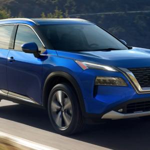 2021 Nissan Rogue driving