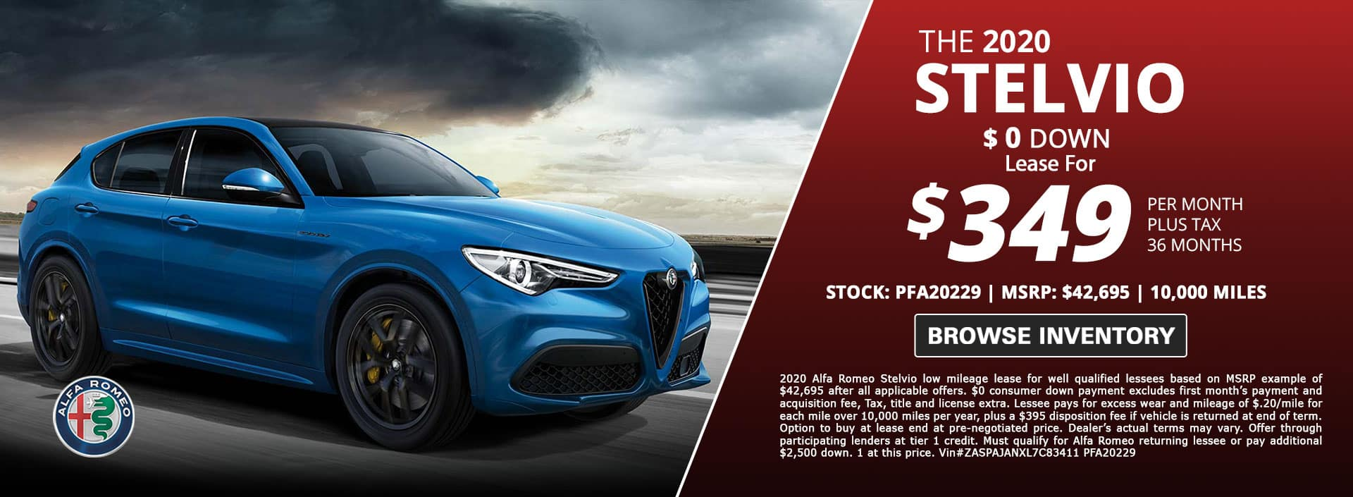 Stelvio Lease Special
