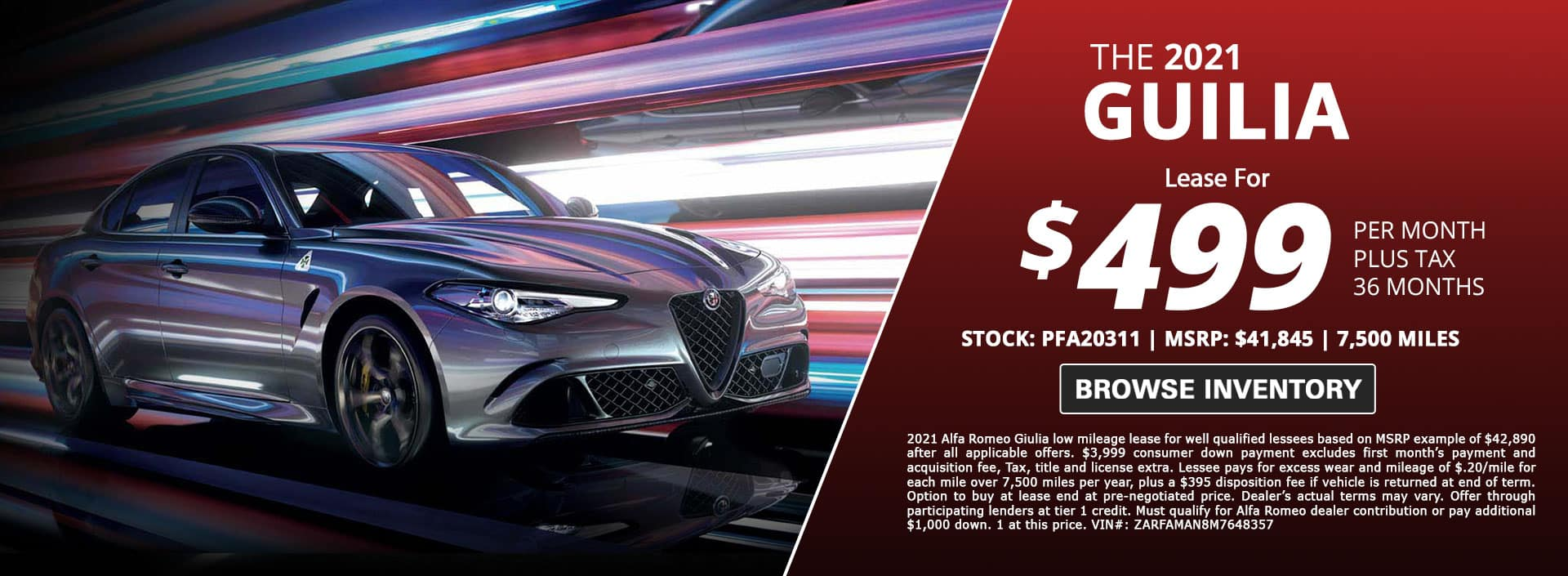 alfa romo giulia lease special for sale in city of industry