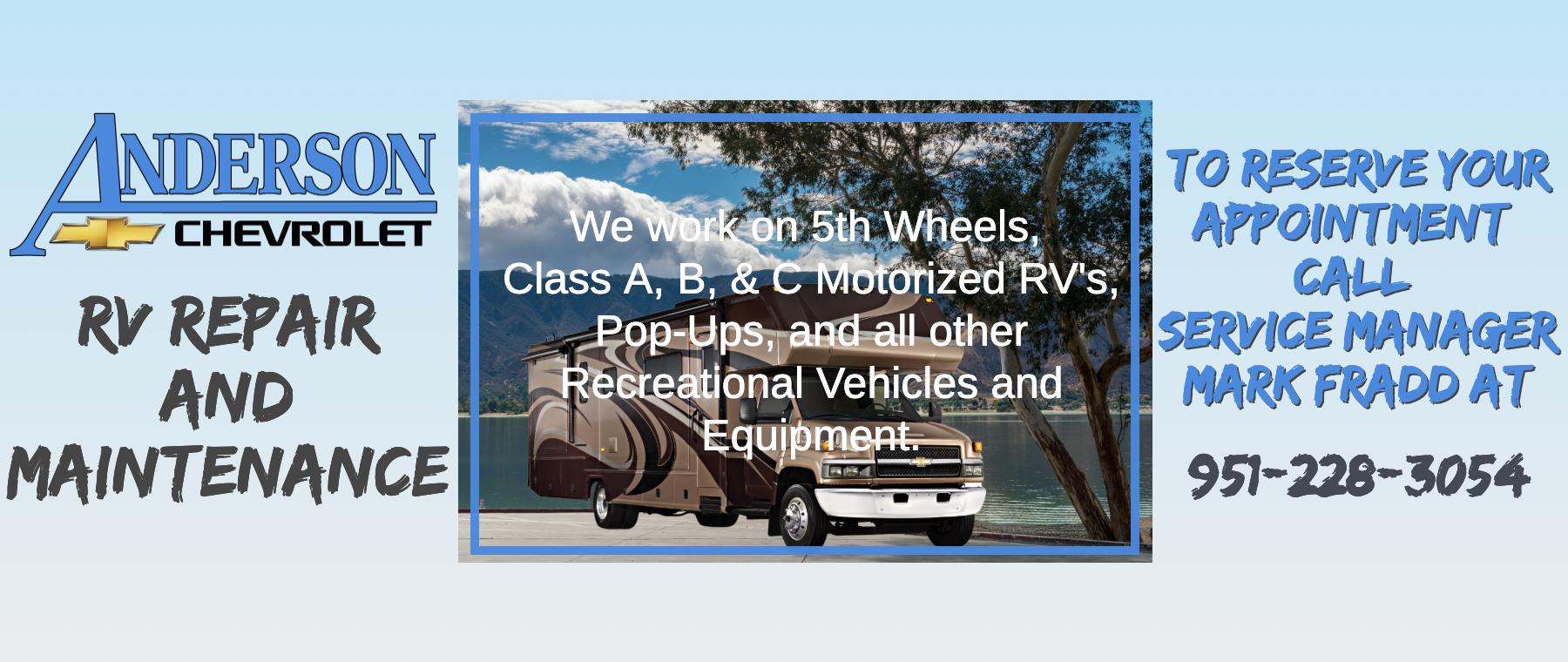 Anderson Chevy RV Service & Repair