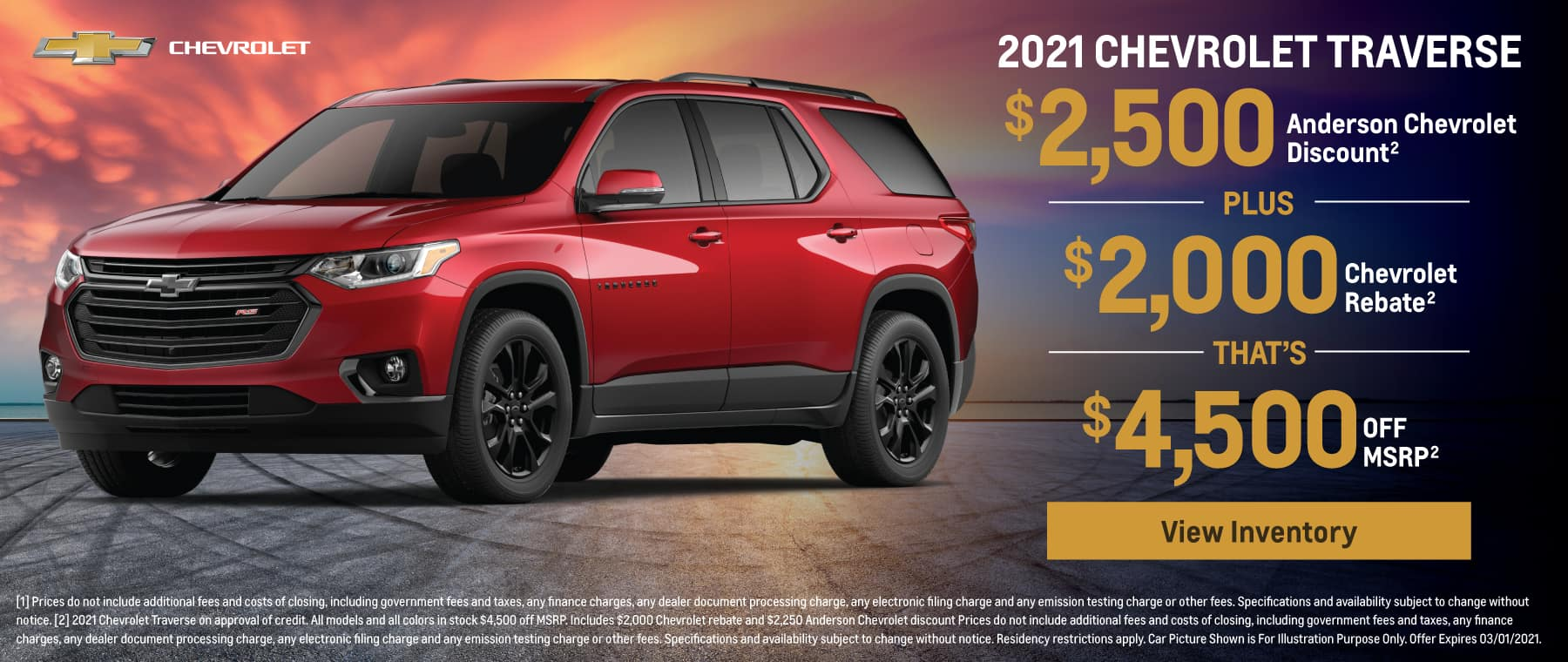 Save up to $4,500 off MSRP