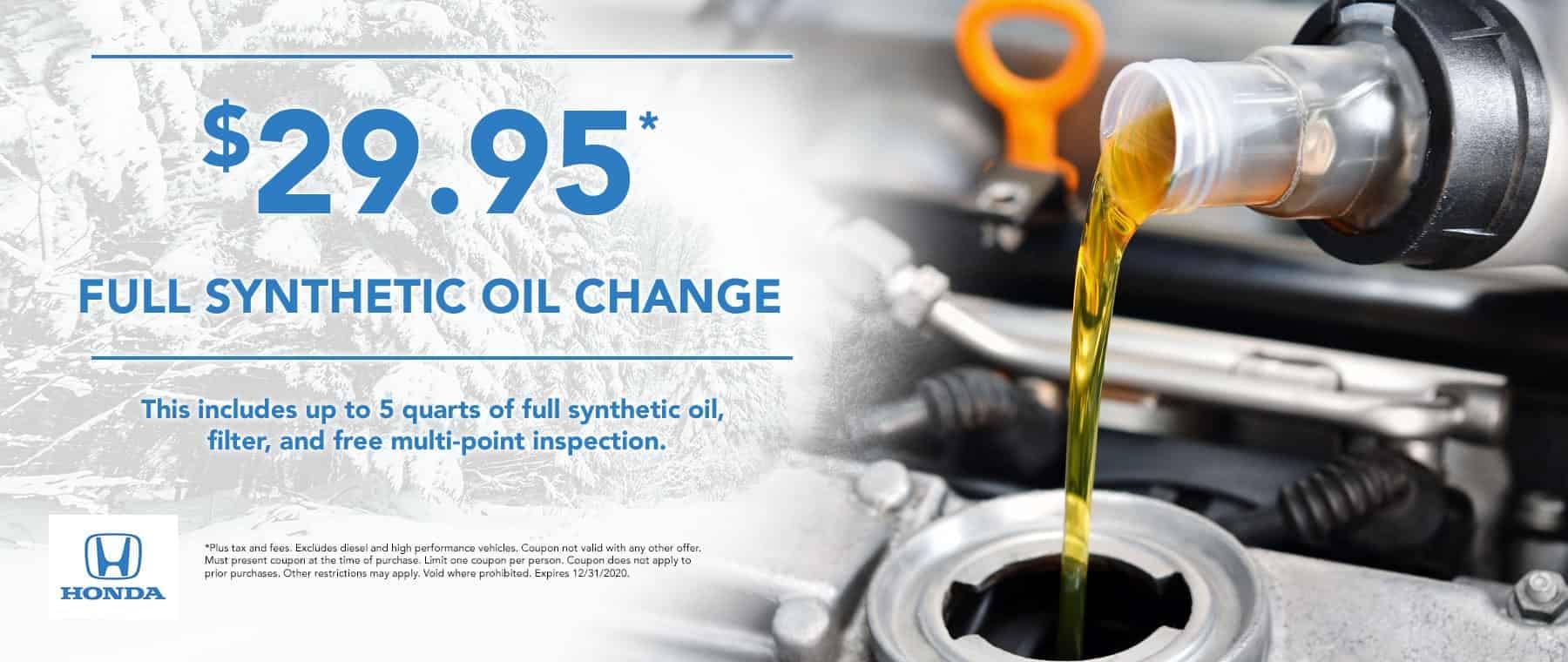 $29.95 oil change