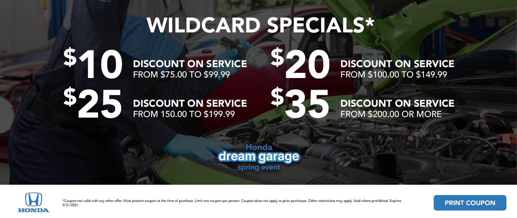 Wildcard Specials