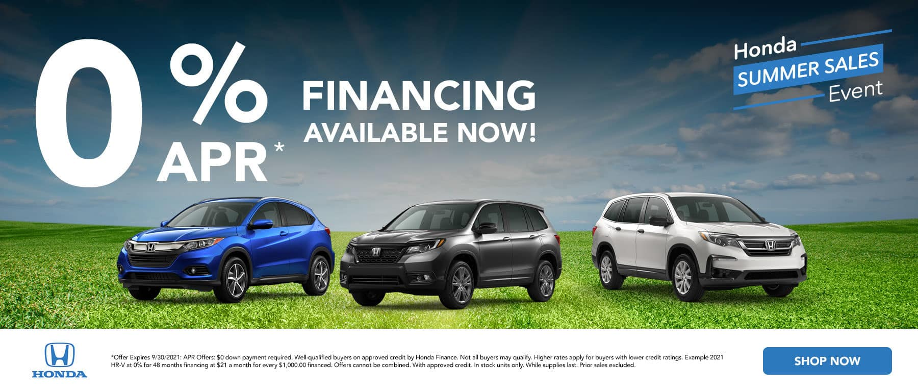 0% financing APR available now!