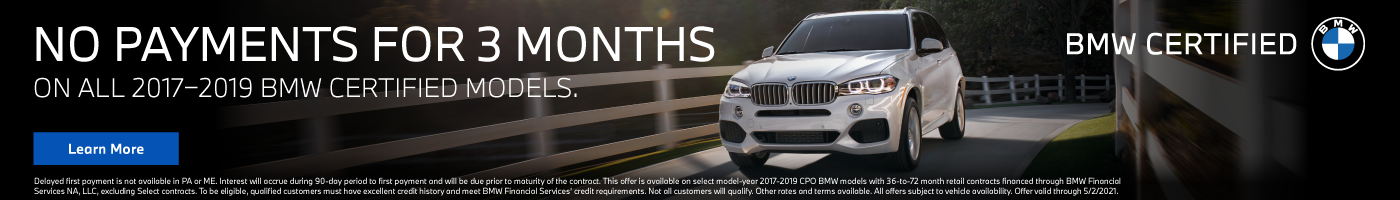 BMW 3 month discount on Certified Pre-Owned Vehicles