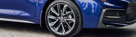 Toyota tire change at Brimell Toyota