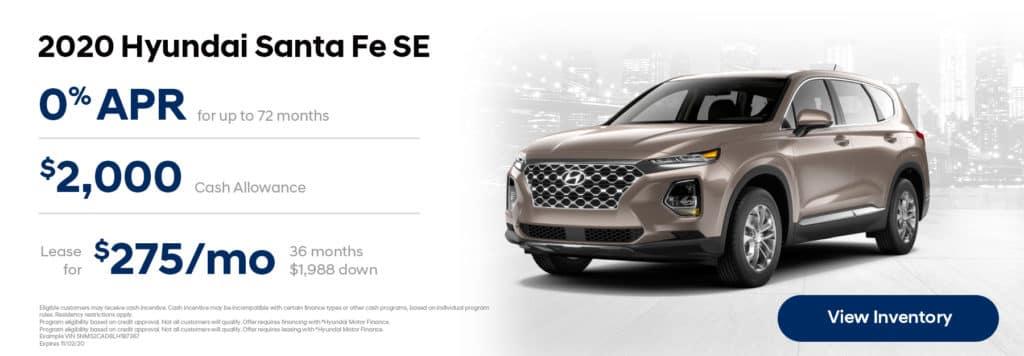 2020 Hyundai Santa Fe Offers