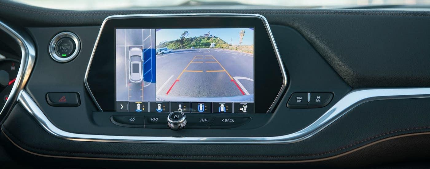 A closeup shows the 360 degree camera on a 2020 Chevy Blazer.