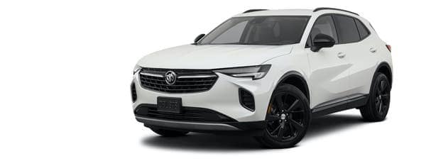 A white 2021 Buick Envision is angle left.