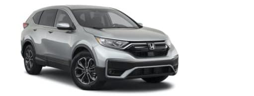 A silver 2021 Honda CR-V EX is angled right.