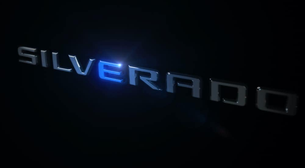 The Silverado logo is shown with the E lit in blue.
