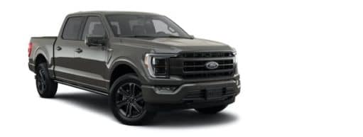 A dark grey 2021 Ford F-150 Lariat is angled right.
