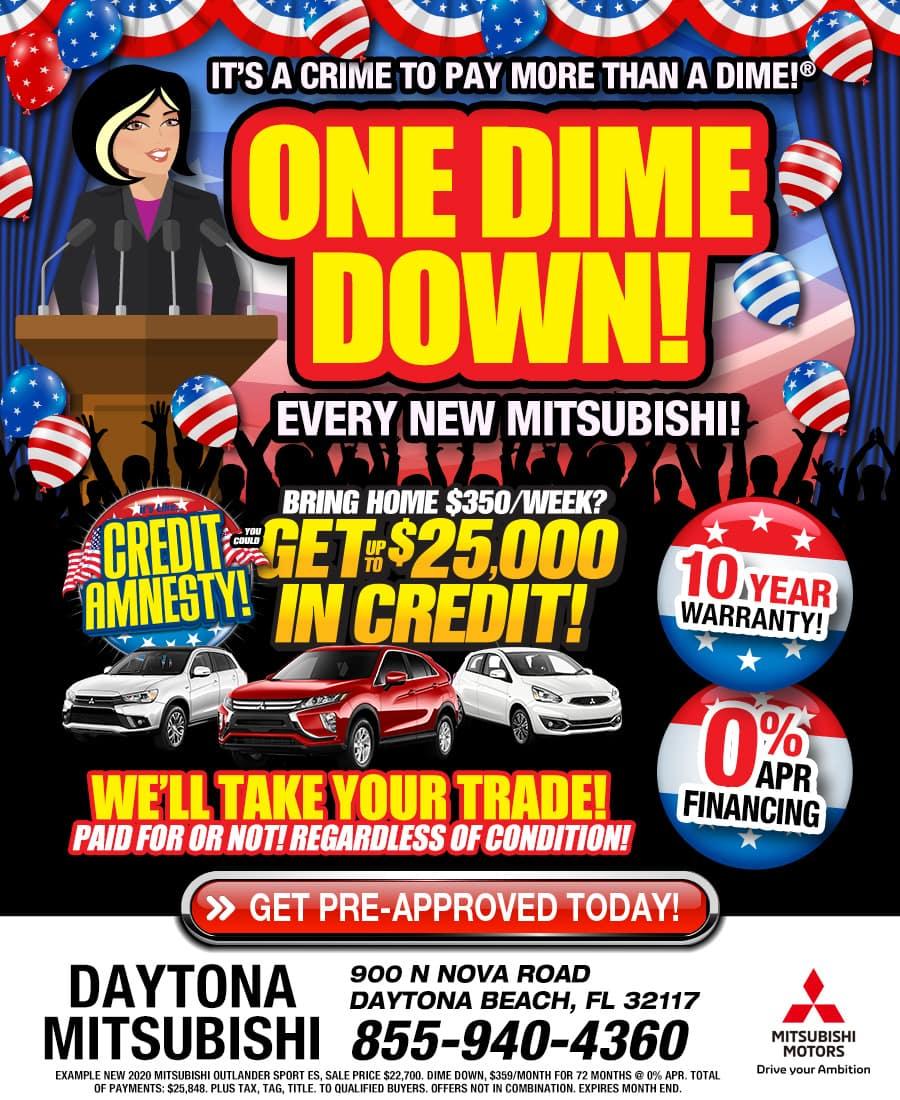 Current Vehicle Specials available at Daytona Mitsubishi