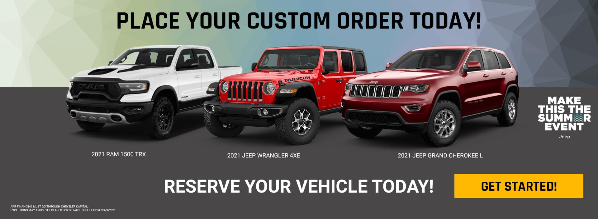 Place your custom order today!