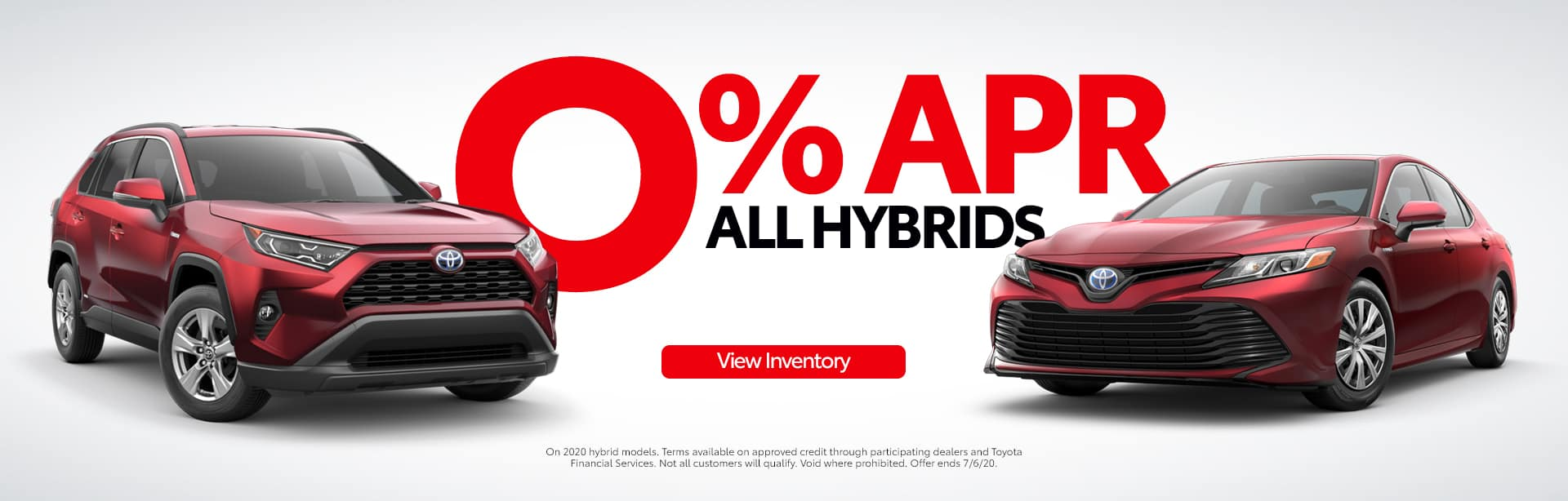 0% APR for 60 months on Toyota Hybrid