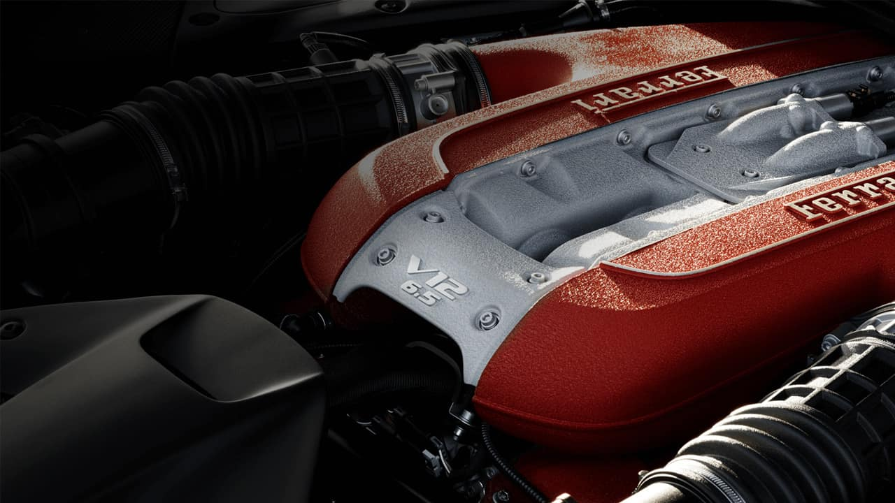 Special Showcase of the Iconic Ferrari V12 Engine