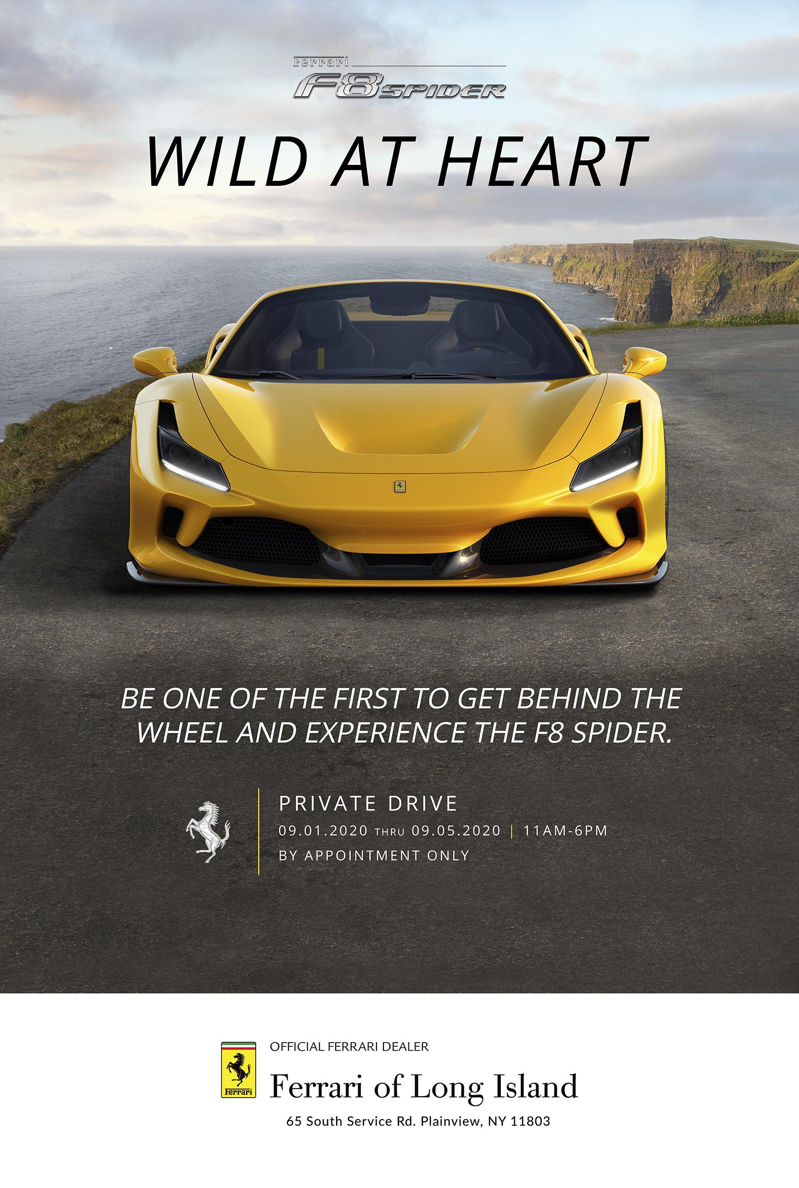 Test Drive the New Ferrari F8 Spider