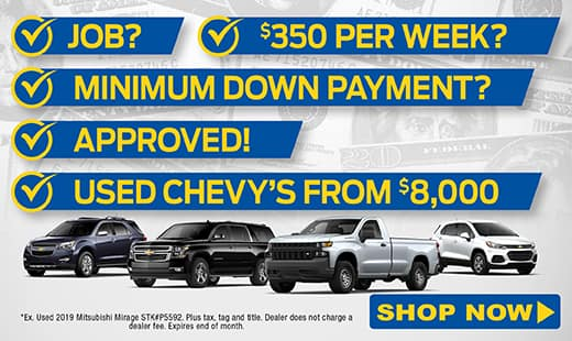 Used Chevys from $8,000