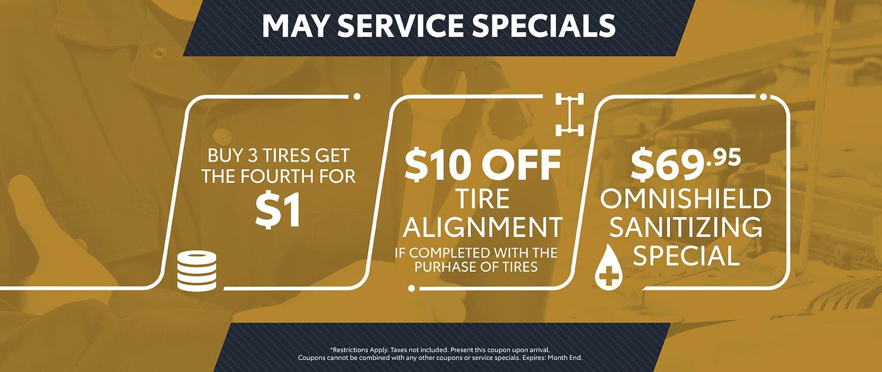 MAY - service specials