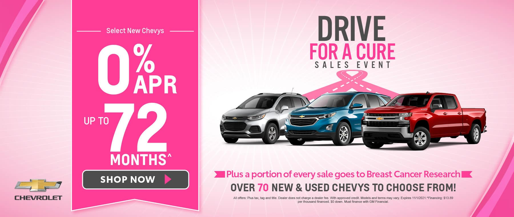 Select New Chevys 0% APR