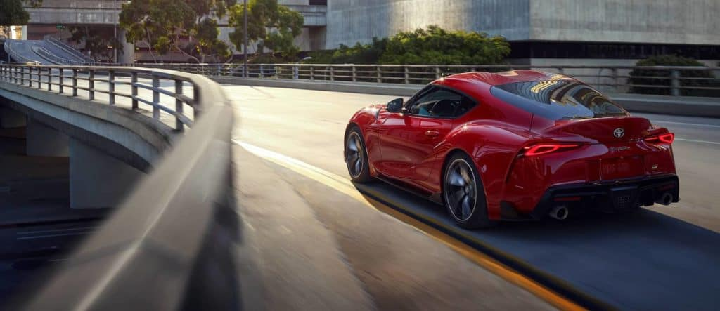 3 Main Benefits of Using OEM parts for your vehicle at Halterman's Toyota of East Stroudsburg | 2020 Toyota Supra driving fast on road