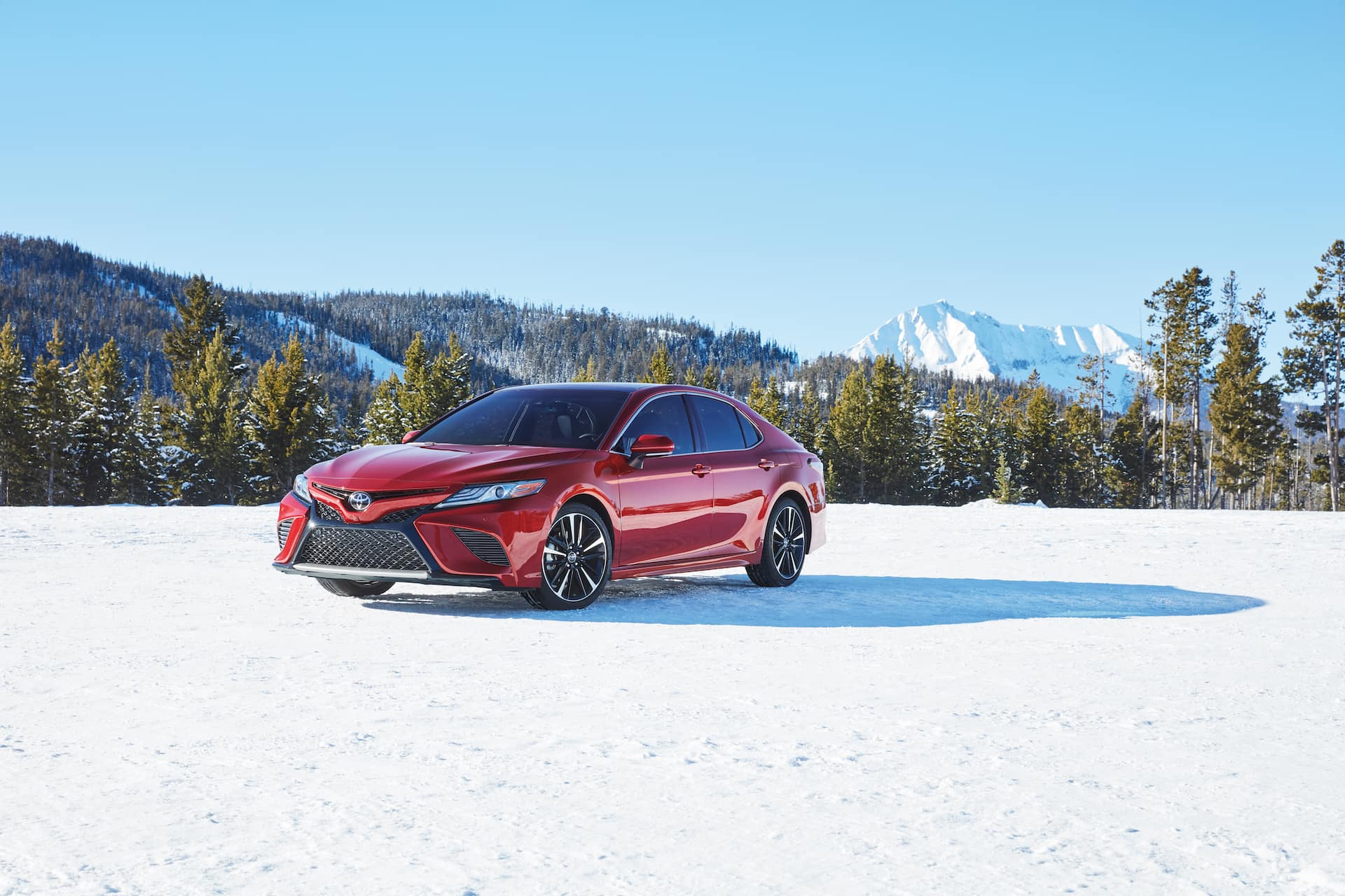 How to prepare your Toyota for the winter season at Halterman's Toyota in East Stroudsburg, PA | 2020 Toyota Camry parked in the snow