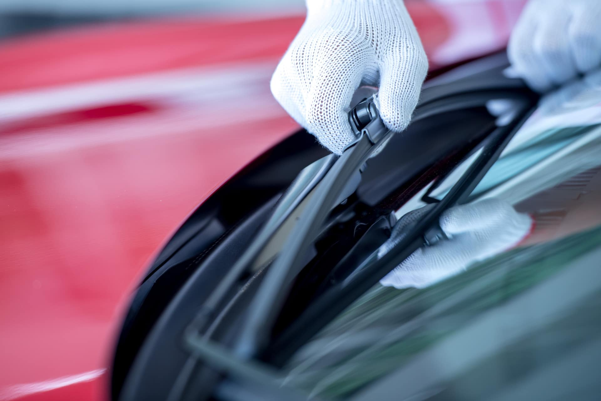 How to prepare your Toyota for the winter season at Halterman's Toyota in East Stroudsburg, PA | Service technician changing windshield wipers
