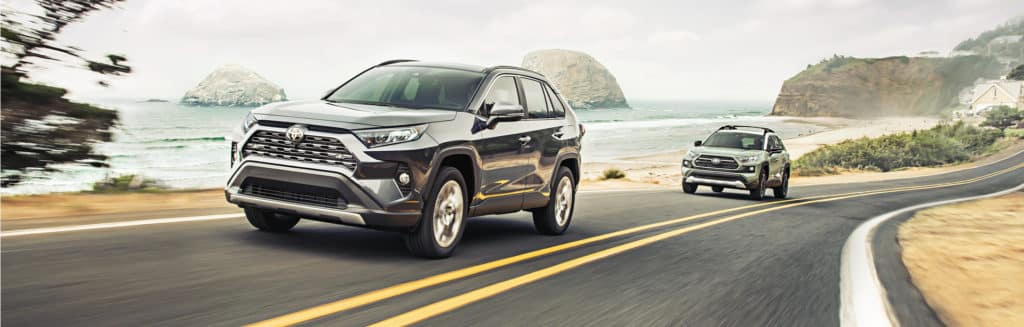 3 Main Benefits of Using OEM parts for your vehicle at Halterman's Toyota of East Stroudsburg | 2021 Toyota RAV4 vehicles driving by coast