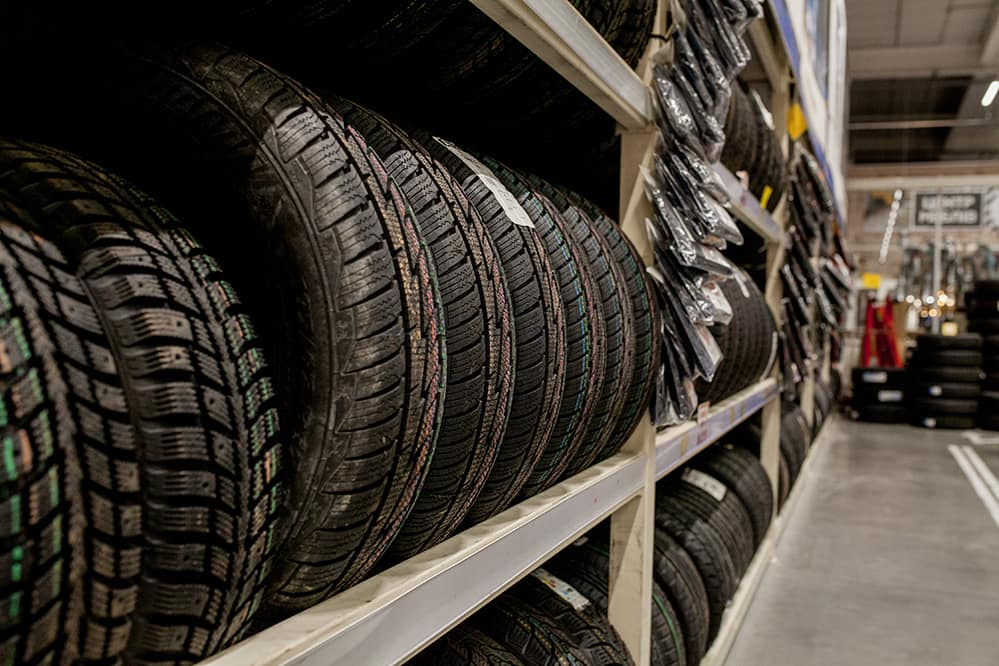 A step-by-step guide to changing a tire by Halterman's Toyota in East Stroudsburg | New tire rack