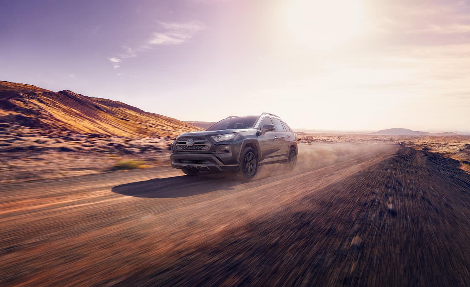 Accessories that help keep your Toyota protected at Halterman's Toyota in East Stroudsburg   2020 Toyota RAV4 driving on off-road terrain