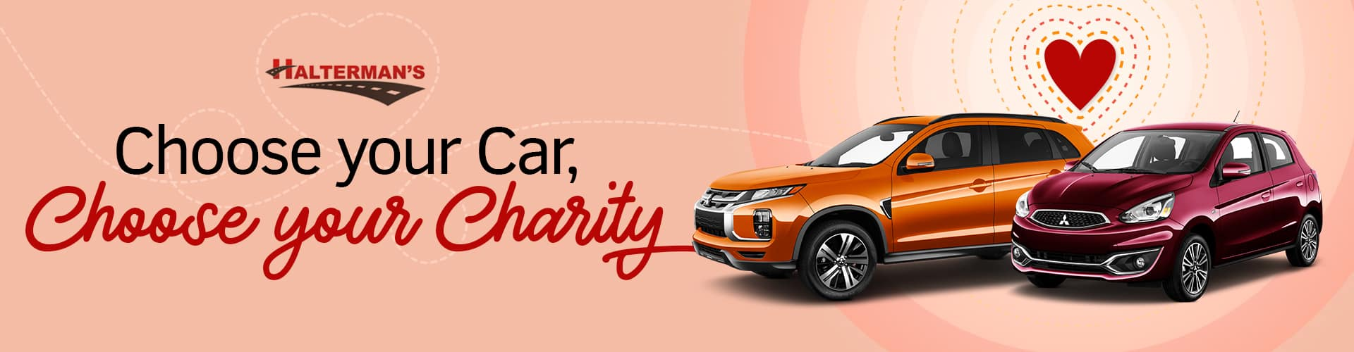 Choose Your Charity at Halterman's Mitsubishi