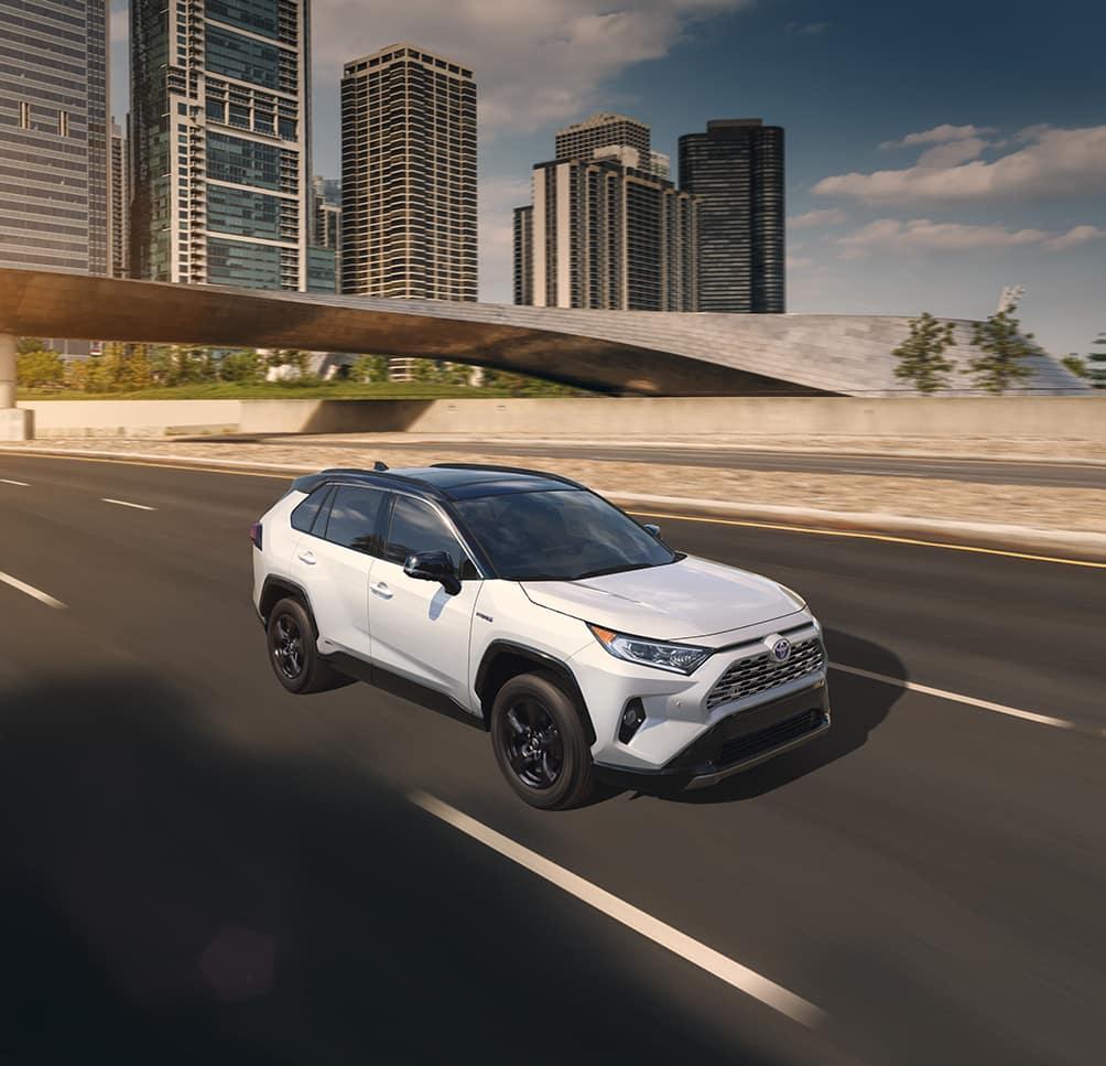 Halterman's Toyota is a Toyota Dealership near Arlington Heights PA | 2020 Toyota RAV4 driving down highway