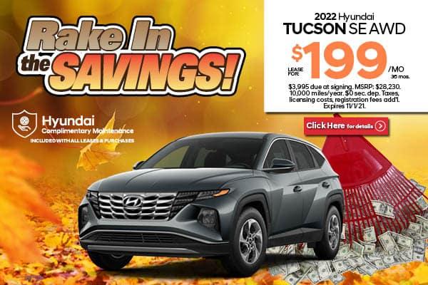 New 2022 Hyundai Tucson SE