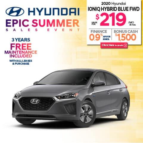 New 2020 Hyundai Ioniq Hybrid Blue
