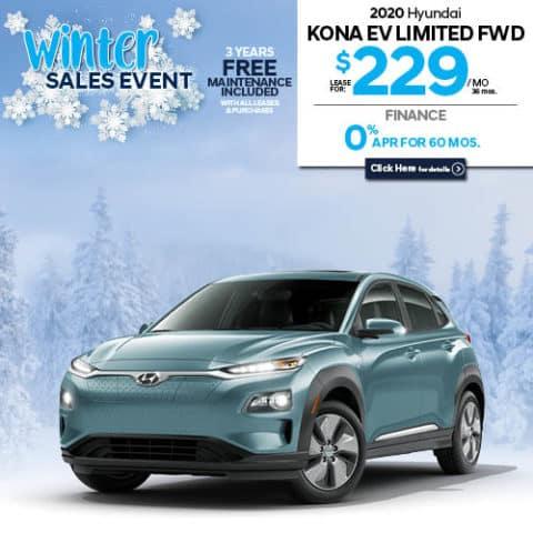 New 2020 Hyundai Kona EV Limited