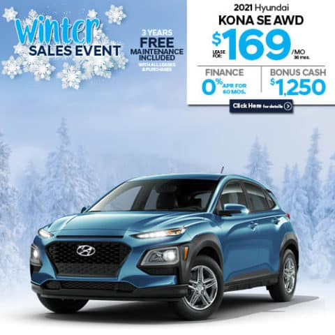 New 2021 Hyundai Kona SE AWD