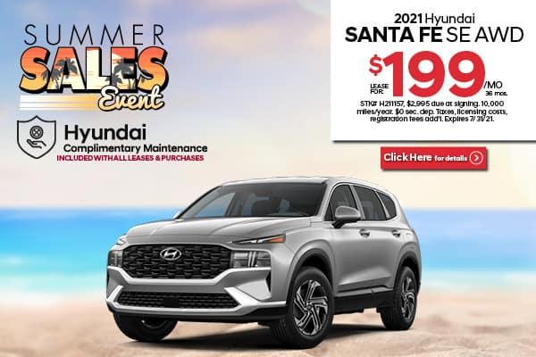 New 2021 Hyundai Santa Fe SE