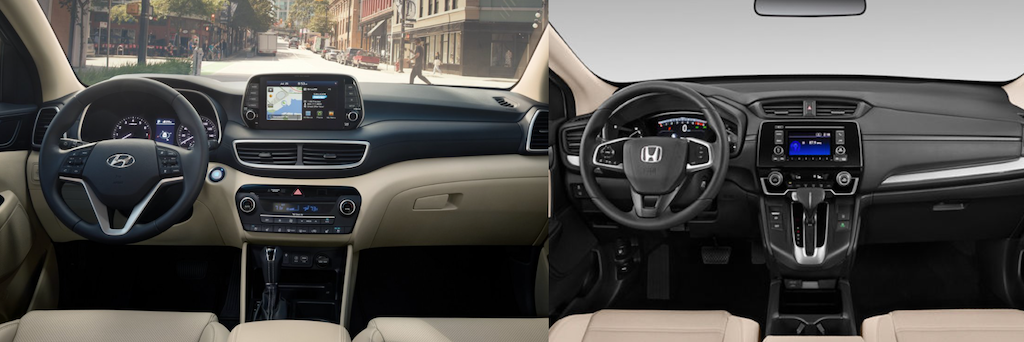 2021 Hyundai Tucson Interior vs 2021 Honda CR-V Interior