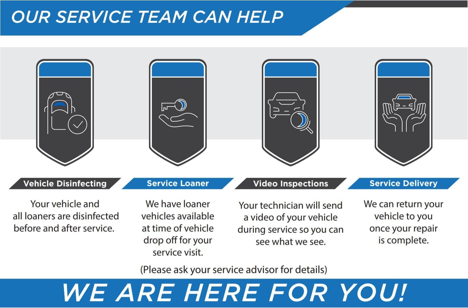Our Service Team Can Help