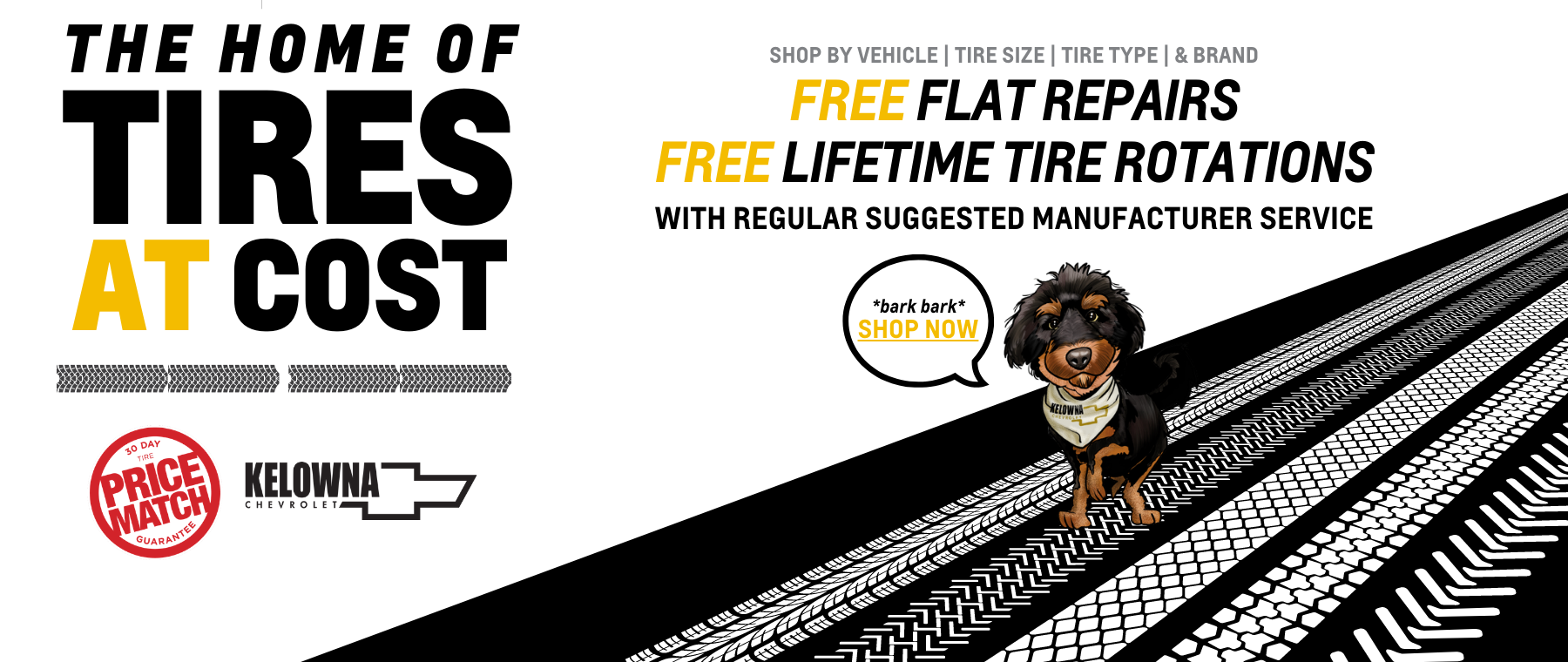 Tires at Cost. Kelowna Chevrolet.