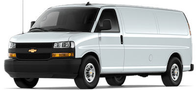 White Chevrolet Express Cargo