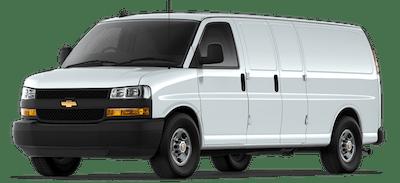 White Chevrolet Express Passenger Van