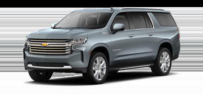 Silver Chevrolet Suburban